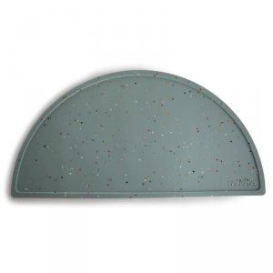 Podkładka silikonowa na stół Cambridge Blue Confetti - Mushie