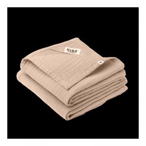 2 pieluszki dla niemowląt 100% GOTS organic cotton 70 x 70 Blush - BIBS