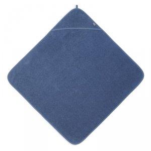 Ręcznik kąpielowy z kapturkiem dla niemowląt 75 x 75 cm FROTTE JEANS BLUE - Jollein