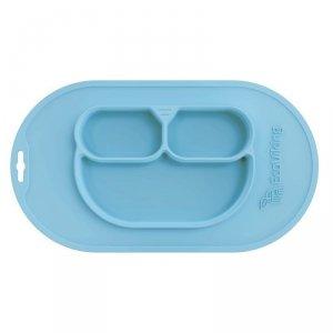 Niebieski silikonowy zestaw do nauki jedzenia firmy Eco Viking