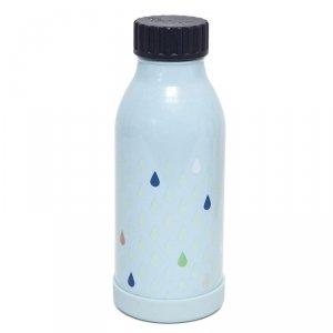 Butelka termiczna ze szlachetnej stali nierdzewnej - Krople nieba