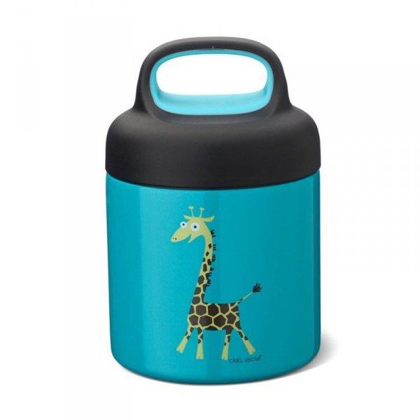 Termos ze szlachetnej stali nierdzewnej - Niebieska Żyrafka