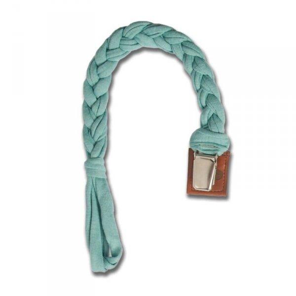 Warkoczykowa zawieszka do smoczka w kolorze niebieskim