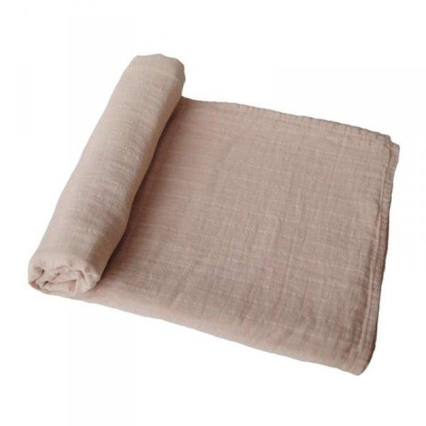 Mushie - otulacz kocyk letni 100% organic cotton Pale Taupe