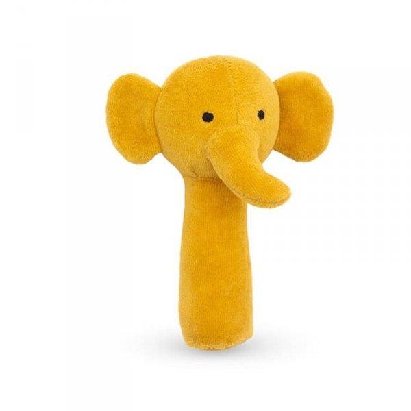 Jollein - miękka grzechotka Elephant Mustard