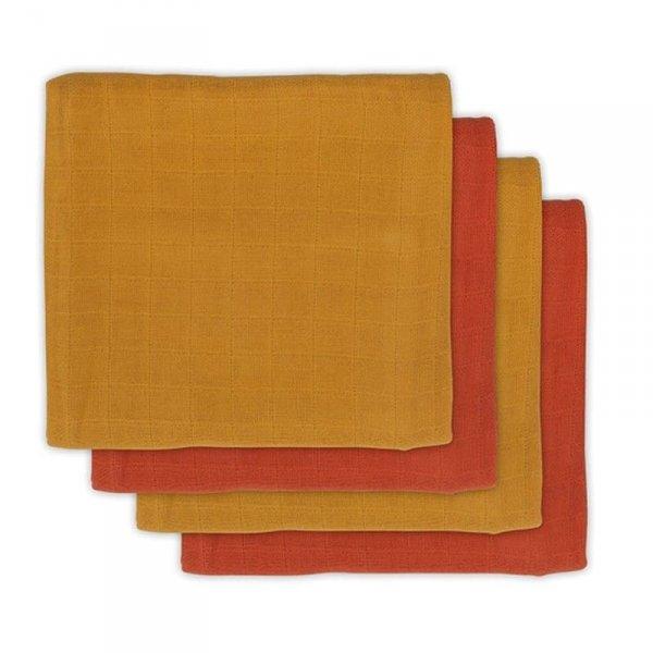 Jollein - 4 pieluszki bambusowe  70 x 70 cm - musztardowe