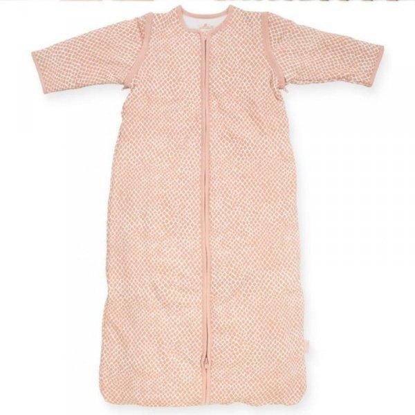 Jollein - Śpiworek niemowlęcy całoroczny 4 pory roku z odpinanymi rękawami Snake PALE PINK 70 cm
