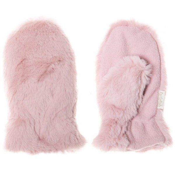 Rękawiczki zimowe dla dzieci futerko MISIU Fur Dusky Pink 3 - 6 lat - Rockahula Kids
