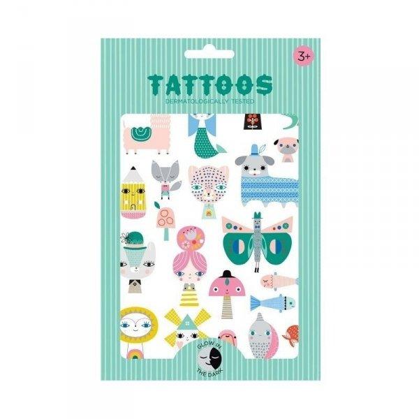 Imprezowy zestaw tatuaży świecących w ciemnościach