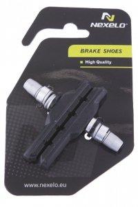 Klocki hamulca V-Brake imbus 72mm NEXELO niesymetryczne czarne