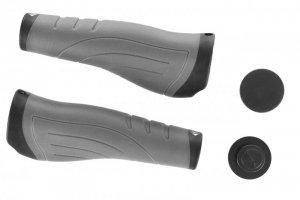 Chwyty kierownicy MERIDA ergonomiczne MD027 135mm pierścienie czarno-szare