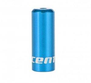 Końcówka pancerza przerzutki ACCENT 4mm alum. niebieska 1szt