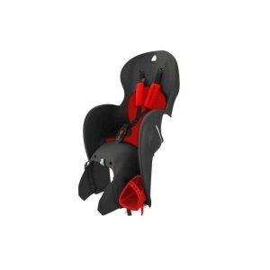 Fotelik dla dziecka KROSS na bagażnik czarno-czerwony