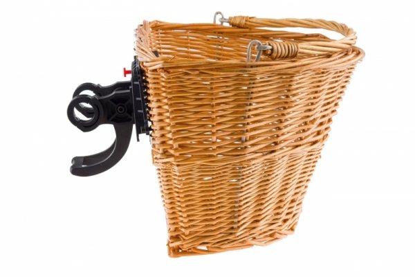 Koszyk na kierownicę wiklinowy na KLIP, naturalny HB-075