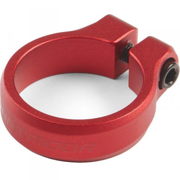 Obejma podsiodłowa DARTMOOR Loop Bolt z śrubą 34,9mm, czerwona anod.