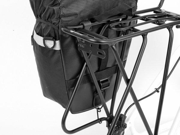 Sakwa na bagażnik AUTHOR A-N-491 boczna z pokrowcem, czarna