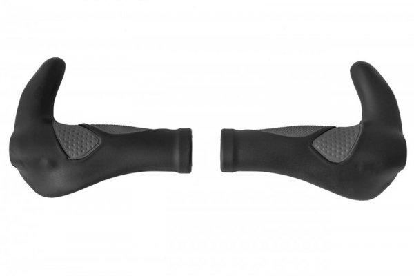 Chwyty kier. profilowane ERGO z rogami 138mm czarne