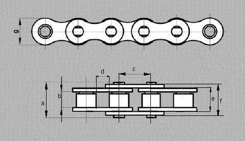 Łańcuch Z-410 YBN/KMC w rolce 1 mb na metry