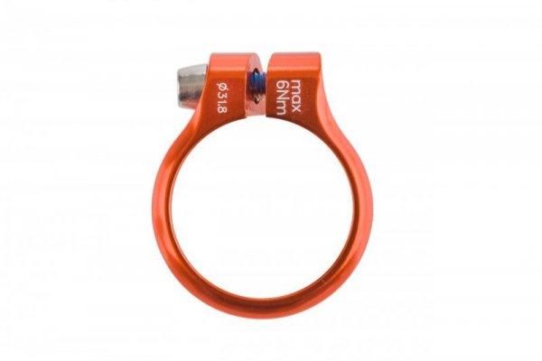 Obejma ACCENT Execute 31,8 mm pomarańczowa anodowana