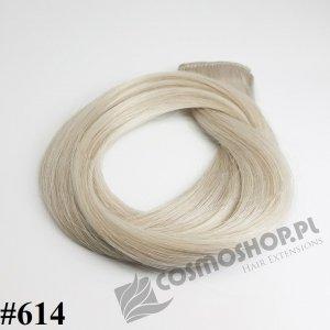 Zestaw Clip-in, długość 55cm kolor #614 - BARDZO JASNY POPIELATY BLOND 135g