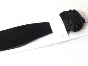 Syntetyczny zestaw Clip-in, długość 45 cm kolor #01 - GŁĘBOKA CZERŃ