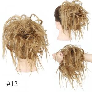 Kok na gumce,#12 -naturalny blond , artystyczny nieład