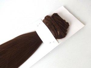 Syntetyczny zestaw Clip-in, długość 45 cm kolor #12 - JASNY BRĄZ