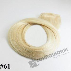 KUCYK CLIP IN- LODOWY BLOND #61, 45 cm