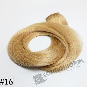 Zestaw Clip-in, długość 55 cm kolor #16 -ZŁOCISTY BLOND 135g