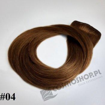 Zestaw Clip-in, długość 40 cm kolor #04 - ŚREDNI BRĄZ, 130g