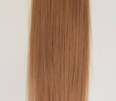 Zestaw włosów pod mikroringi, długość 55 cm kolor #12 - NATURALNY CIEMNY BLOND