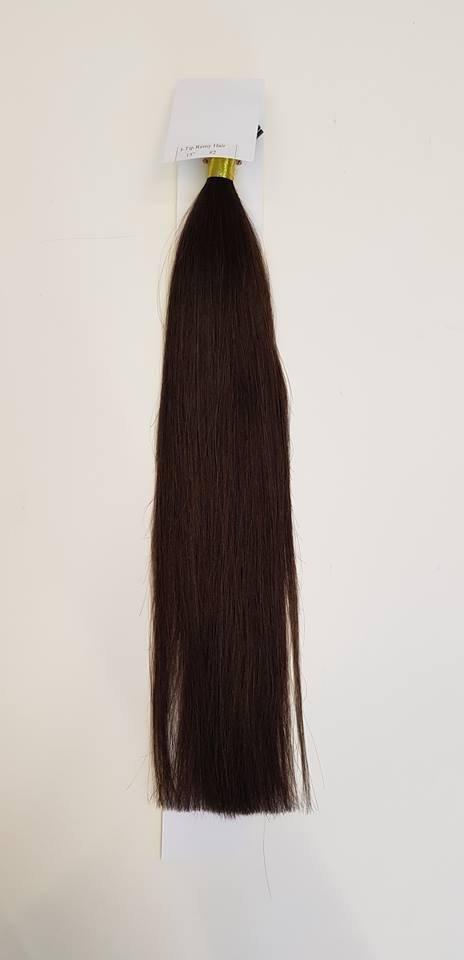 Zestaw włosów pod mikroringi, długość 55 cm kolor #02 - CIEMNY BRĄZ