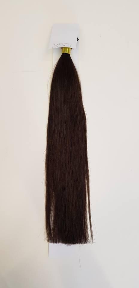 Zestaw włosów pod mikroringi, długość 40 cm kolor #02 - CIEMNY BRĄZ