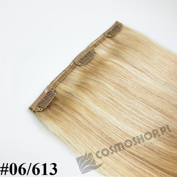Zestaw Clip-in, długość 40 cm kolor balejaż #06/613 -JASNY BRĄZ / JASNY BLOND, 130g