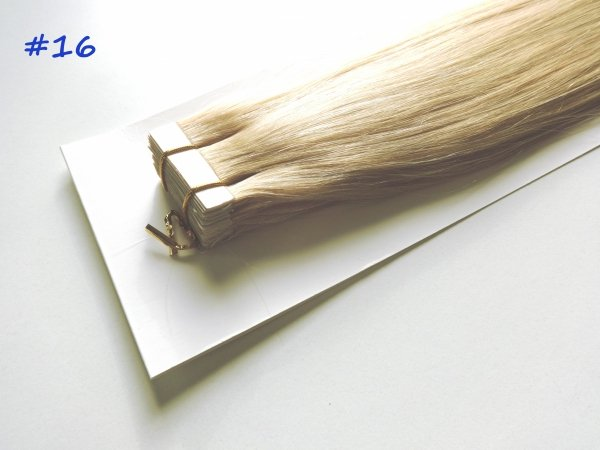 Zestaw Tape on, długość 40 cm, kolor #16- Złocisty blond