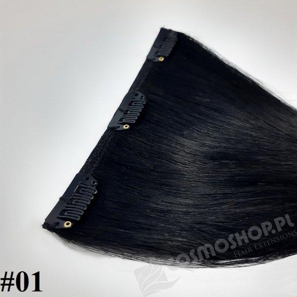 Zestaw Clip-in, długość 40 cm kolor #01 - GŁĘBOKA CZERŃ, 130g