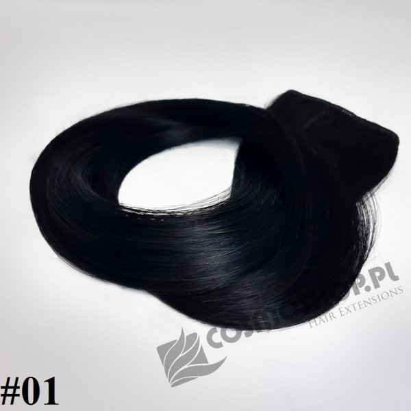 Zestaw Clip-in, długość 55 cm kolor #01 -GŁĘBOKA CZERŃ 135g