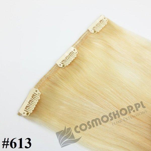 Zestaw Clip-in, długość 55 cm kolor #613 - JASNY BLOND