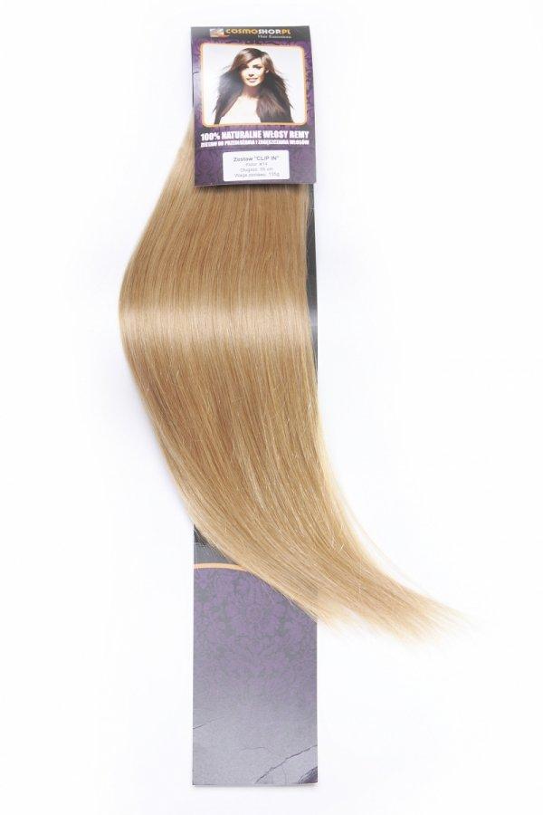 Zestaw Clip-in, długość 45 cm kolor #14 -MIODOWY BLOND