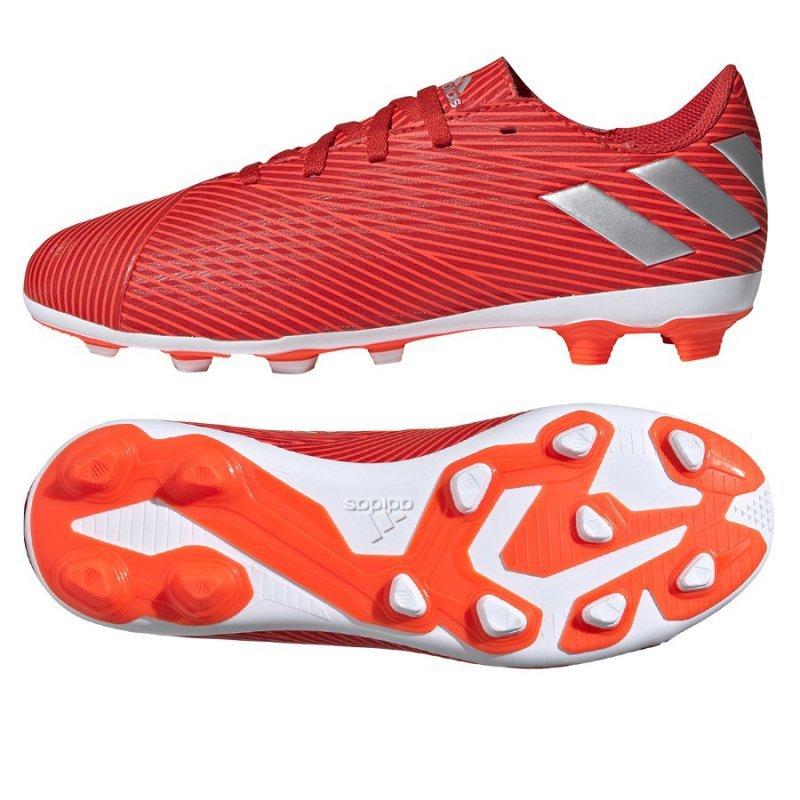 Buty adidas Nemeziz 19.4 FxG J F99948 czerwony 38 2/3