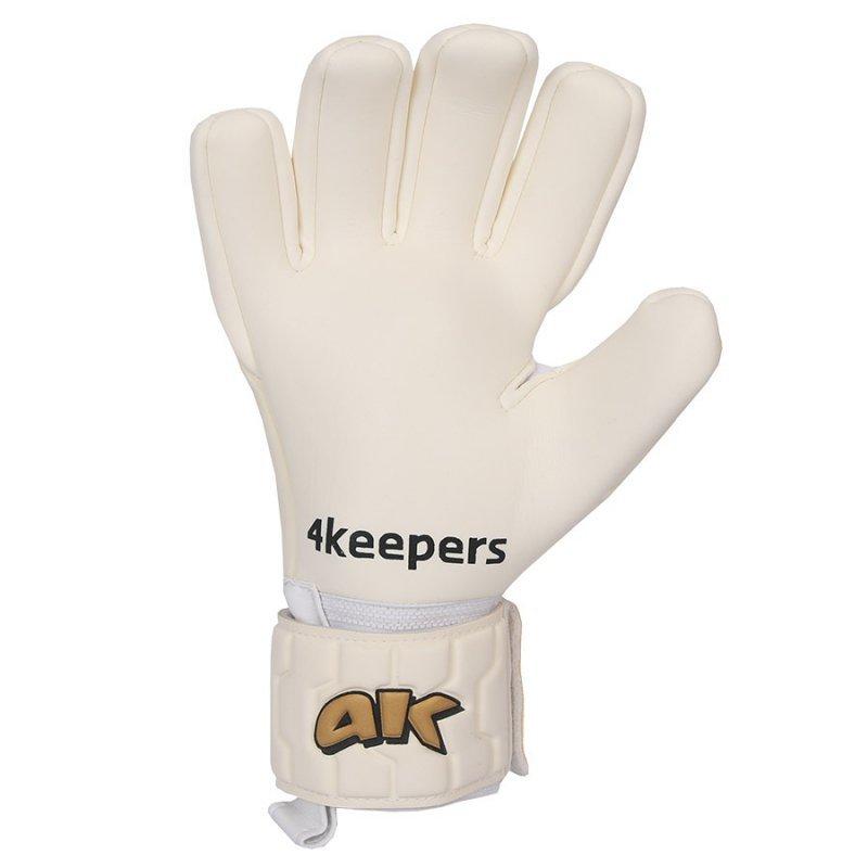 Rękawice 4keepers Champ  Gold IV NC + płyn czyszczący biały 8,5
