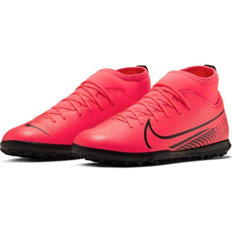 Buty Nike JR Mercurial Superfly 7 Club TF AT8156 606 czerwony 36