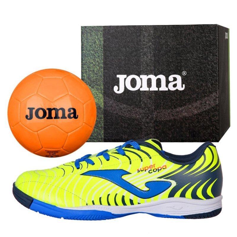 Buty Joma Super Copa JR 2011 IN SCJS.2011.IN + Piłka Gratis żółty 32
