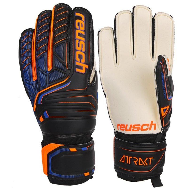 Rękawice bramkarskie Reusch Attrakt SG Finger Support 50 70 810 7783 czarny 8