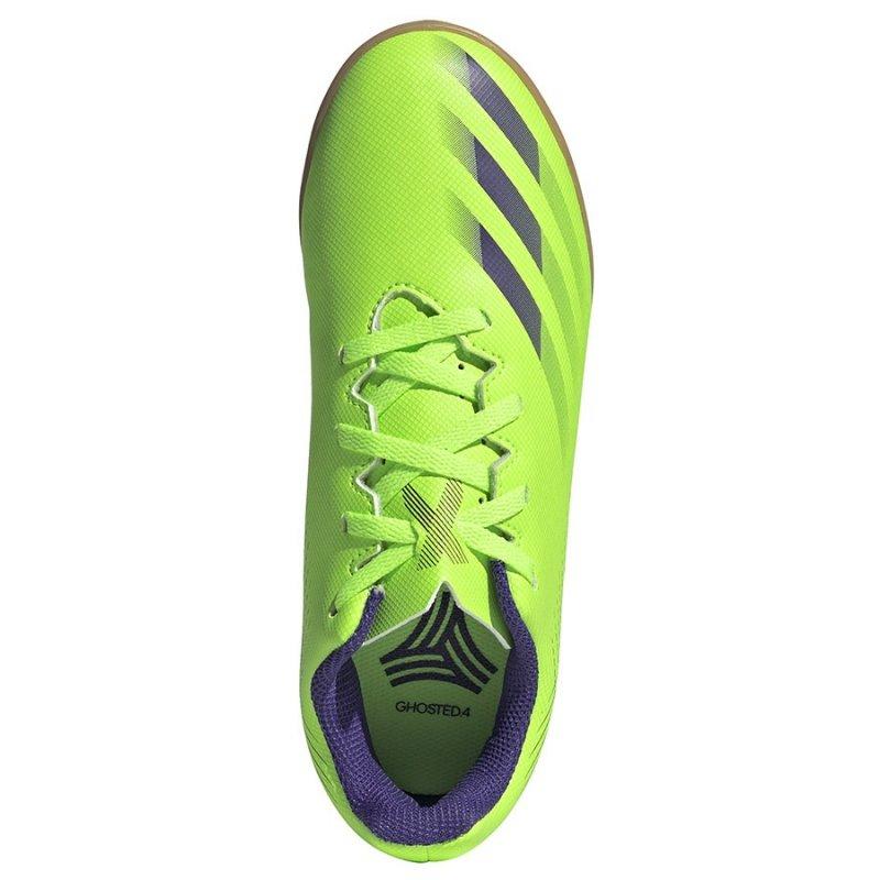Buty adidas X Ghosted.4 IN J EG8233 zielony 38 2/3