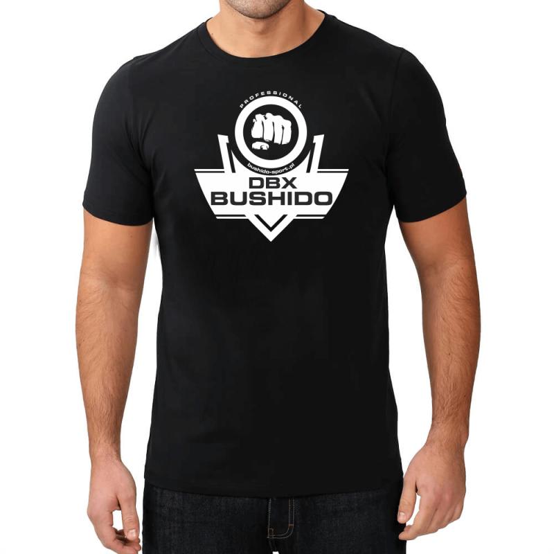 T-Shirt KOSZULKA BAWEŁNIANA DBX BUSHIDO CLASSIC BRAND WHITE KT10 - M