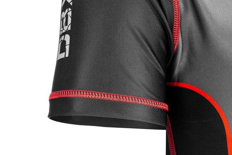 "Rashguard krótki ""Warrior"" Koszulka kompresyjna MMA, BJJ, DBX BUSHIDO R-121H-M"