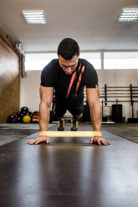 Power Band MINI  - Guma Treningowa  do ćwiczeń mobility - NIEBIESKA 13-20 kg