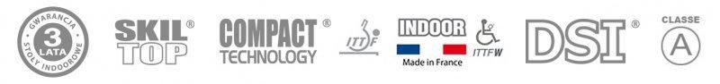 CORNILLEAU STÓŁ TENISOWY COMPETITION 740 ITTF NIEBIESKI