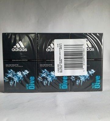 Adidas Ice Dive Woda toaletowa 50ml Pakiet 3 szt